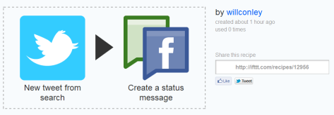 Selective Tweeting to a Facebook Page from Multiple Twitter Accounts